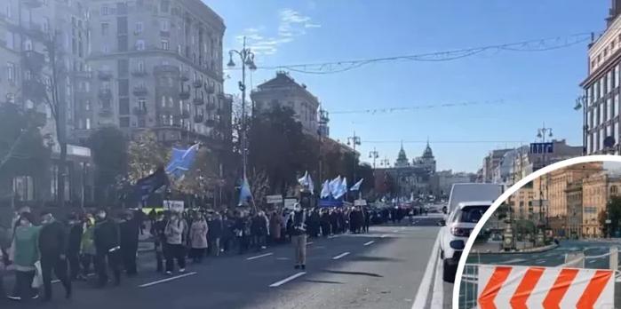 В центре Киева – протесты, улицы перекрыли: как объехать (видео)
